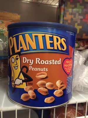 Dry roasted peanuts made with sea salt ounce container - Product - fr