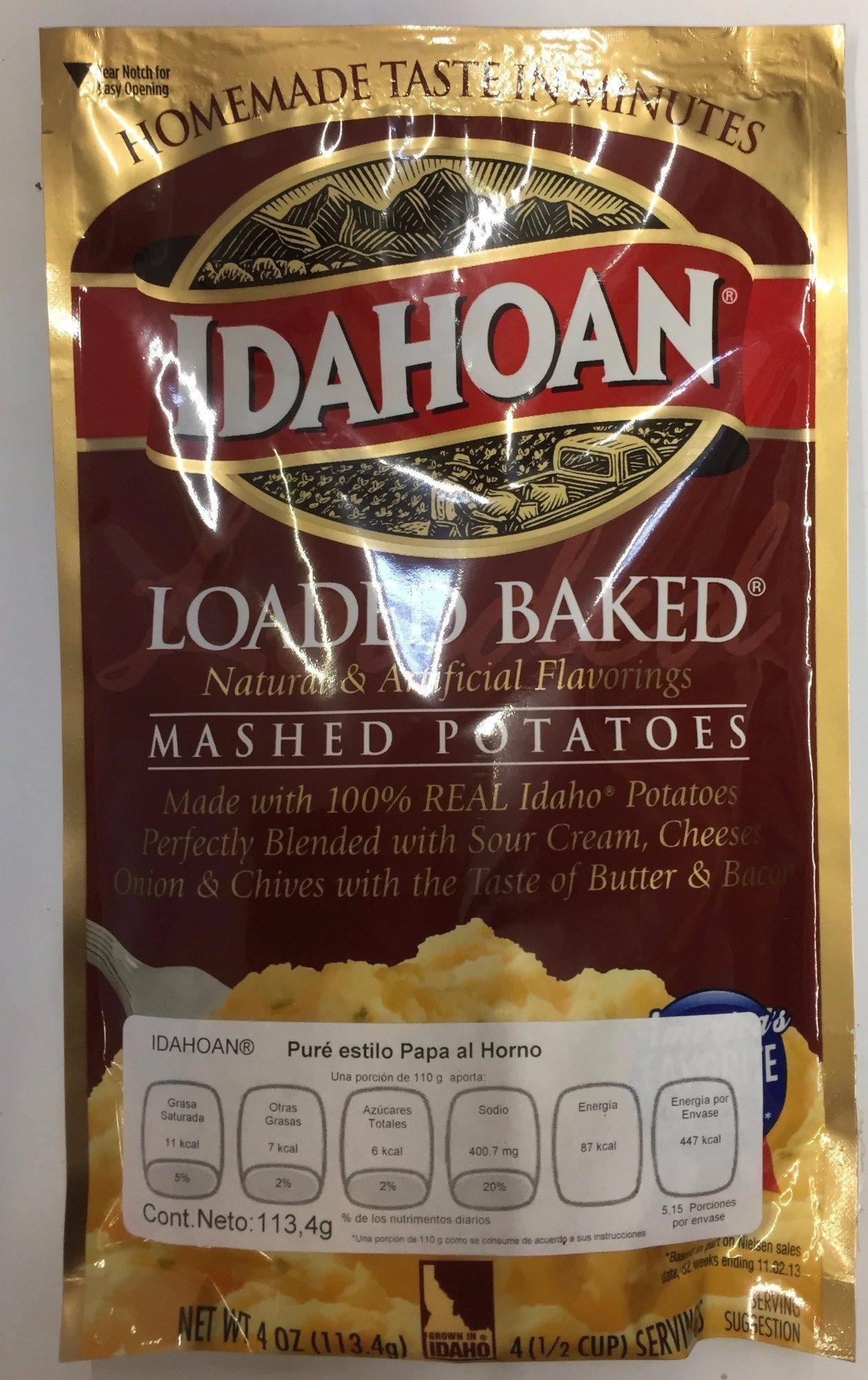 Idahoan, loaded baked mashed potatoes - Producto - es
