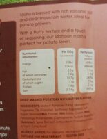 Perfect mash buttery - Nutrition facts