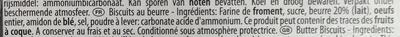 Gaufrettes fines - Ingredients - fr