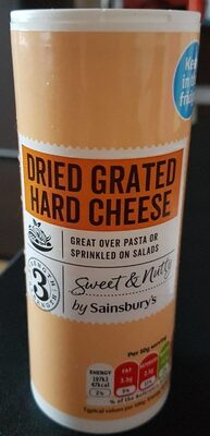 Dried grated hard cheese - Product