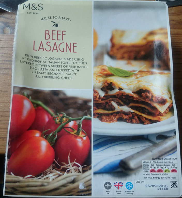 Beef Lasagne - Product - fr
