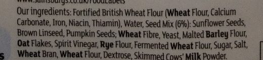 Seeded Pittas - Ingredients