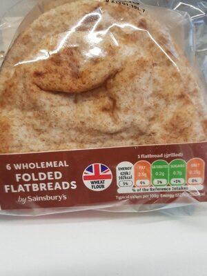 Wholemeal folded flatbread - Product