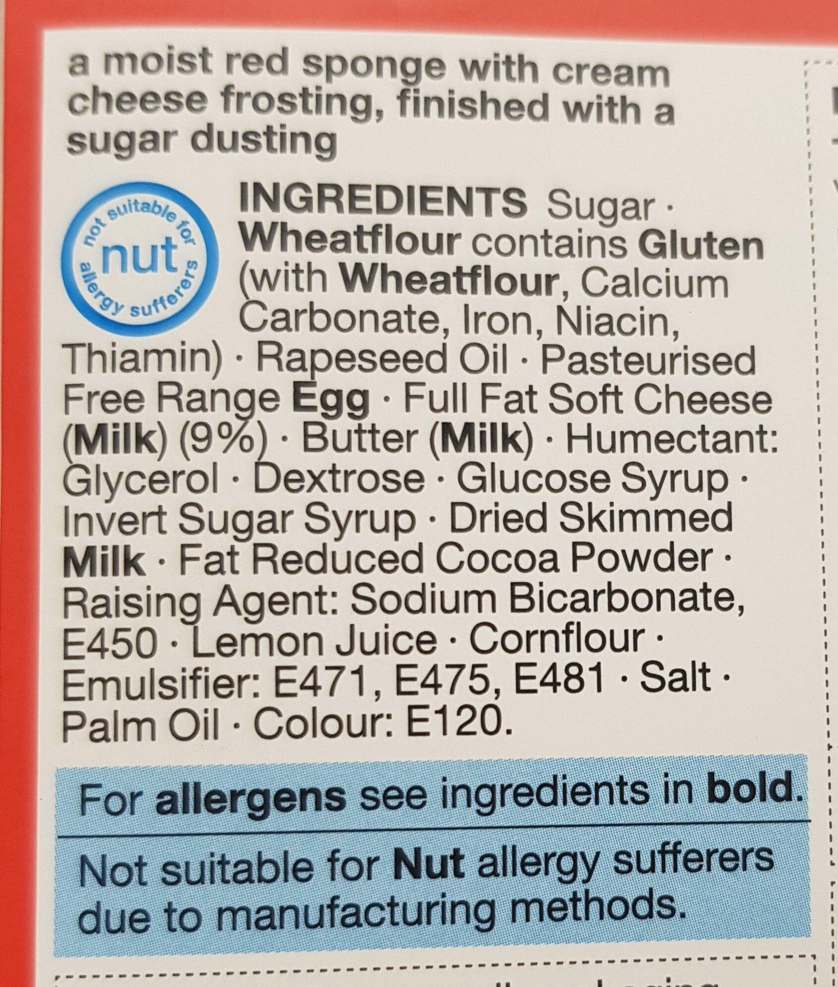 Red velvet cake - Ingredients