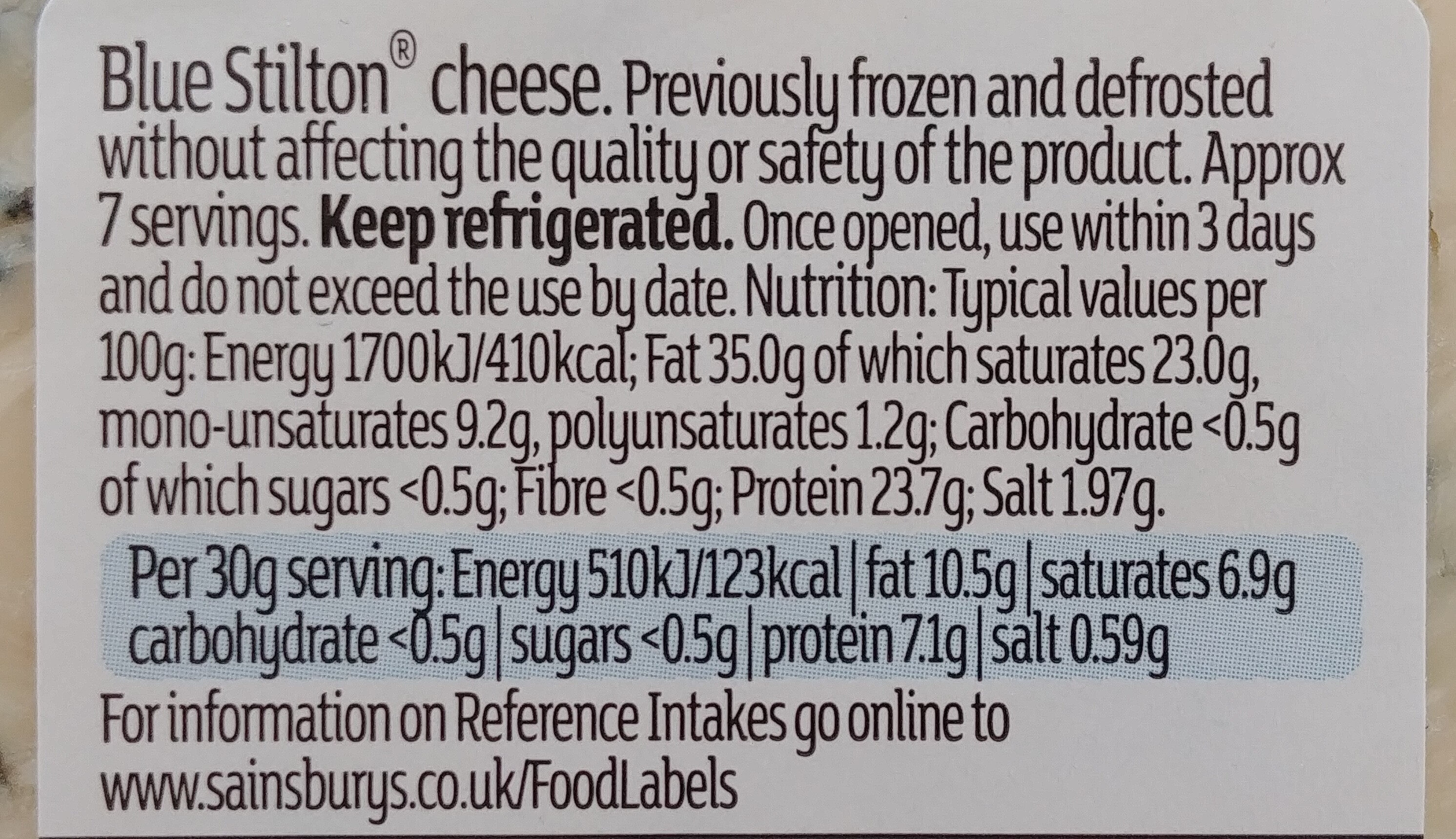 Blue Stilton - Nutrition facts - en