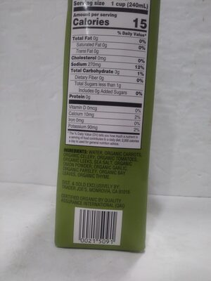 Hearty Vegetable broth - Ingredients - en