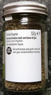 Thyme - Ingrédients