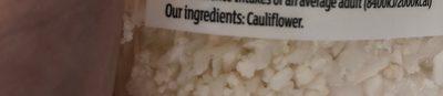 Cauliflower rice - Ingredientes