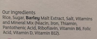 Rice Pops - Ingredients - en