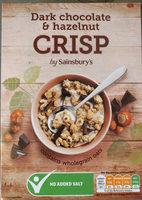 Dark chocolate & hazelnut CRISP by Sainsbury's - Product - en