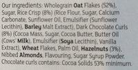 Dark chocolate & hazelnut CRISP by Sainsbury's - Ingredients - en
