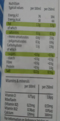Leche de almendra - Informations nutritionnelles - en