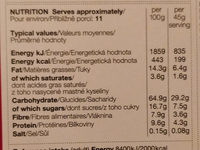 Milk and cookies granola - Nutrition facts