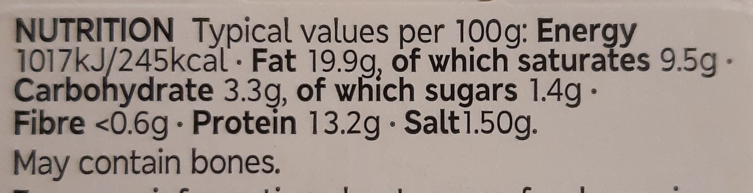 Smoked Mackerel Pate - Voedingswaarden - en