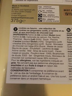 Cookies au Beurre - Nutrition facts