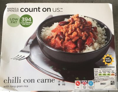Chilli con Carne with Long Grain Rice - Product