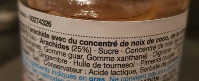 Peanut satay sauce - Ingredients