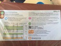 Wholemeal bread - Ingrédients