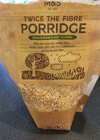 Twice the fibre porridge - Product - fr