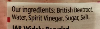 Sliced Beetroot in vinegar - Ingrédients - en