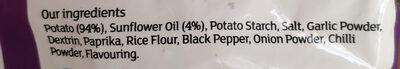Lightly Spiced Wedges - Ingrédients - en