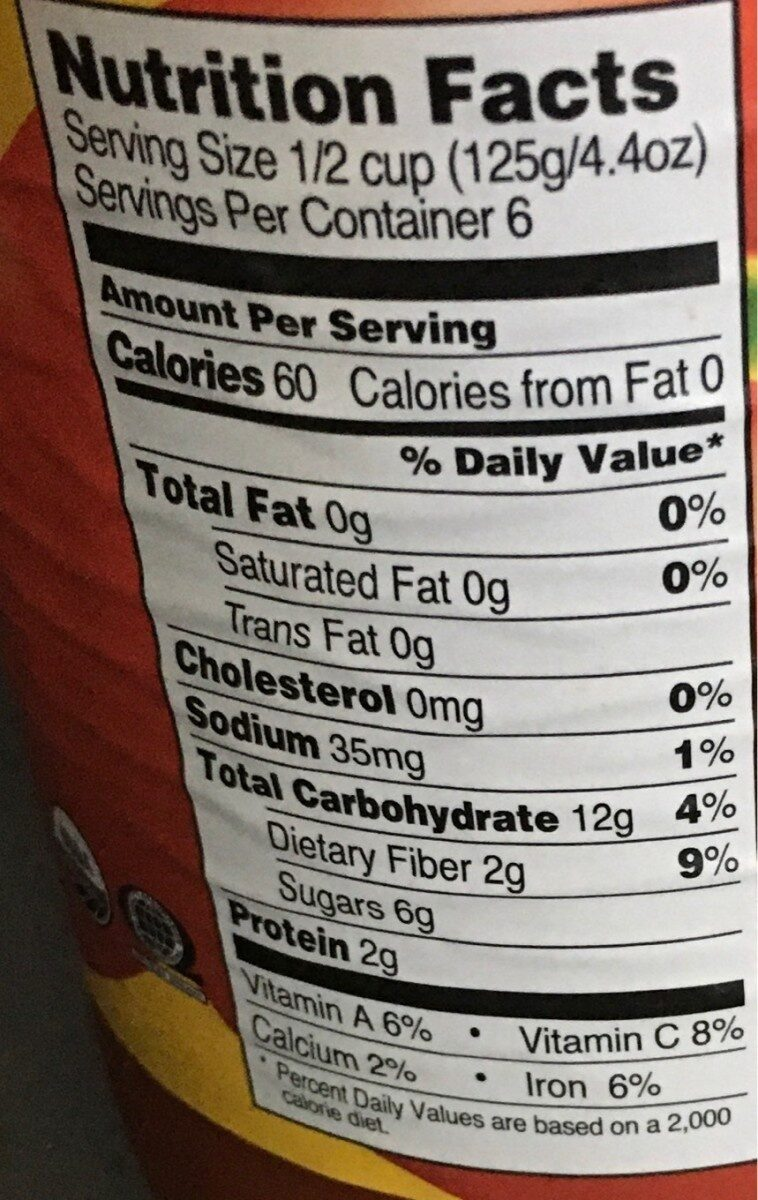 Organic Marinara sauce - Nutrition facts - en