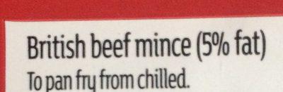 British beef mince - Ingrédients