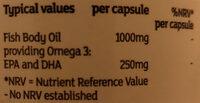 Omega 3 fish oil - Ingrédients - en