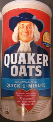 Quaker Oats Heart Healthy Quick 1-Minute Oats 42 Ounce Paper Canister - Product - en