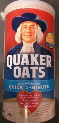 Quaker Oats Heart Healthy Quick 1-Minute Oats 42 Ounce Paper Canister - Produit - fr