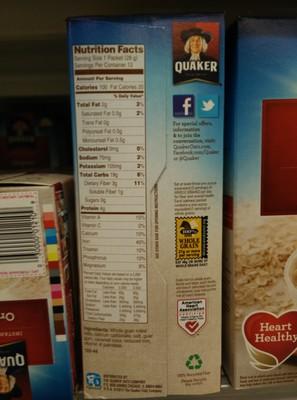 Quaker Original Instant Oatmeal (12 - 0.98 Ounce) 11.8 Ounces 12 Count Paper Packets - 2
