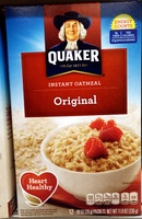 Quaker Original Instant Oatmeal (12 - 0.98 Ounce) 11.8 Ounces 12 Count Paper Packets - Product - en