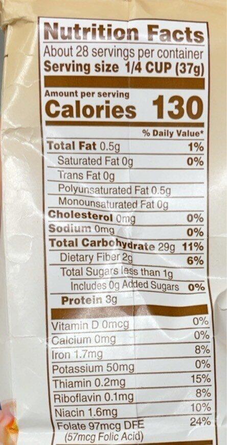Quick minute grits - Informations nutritionnelles - en