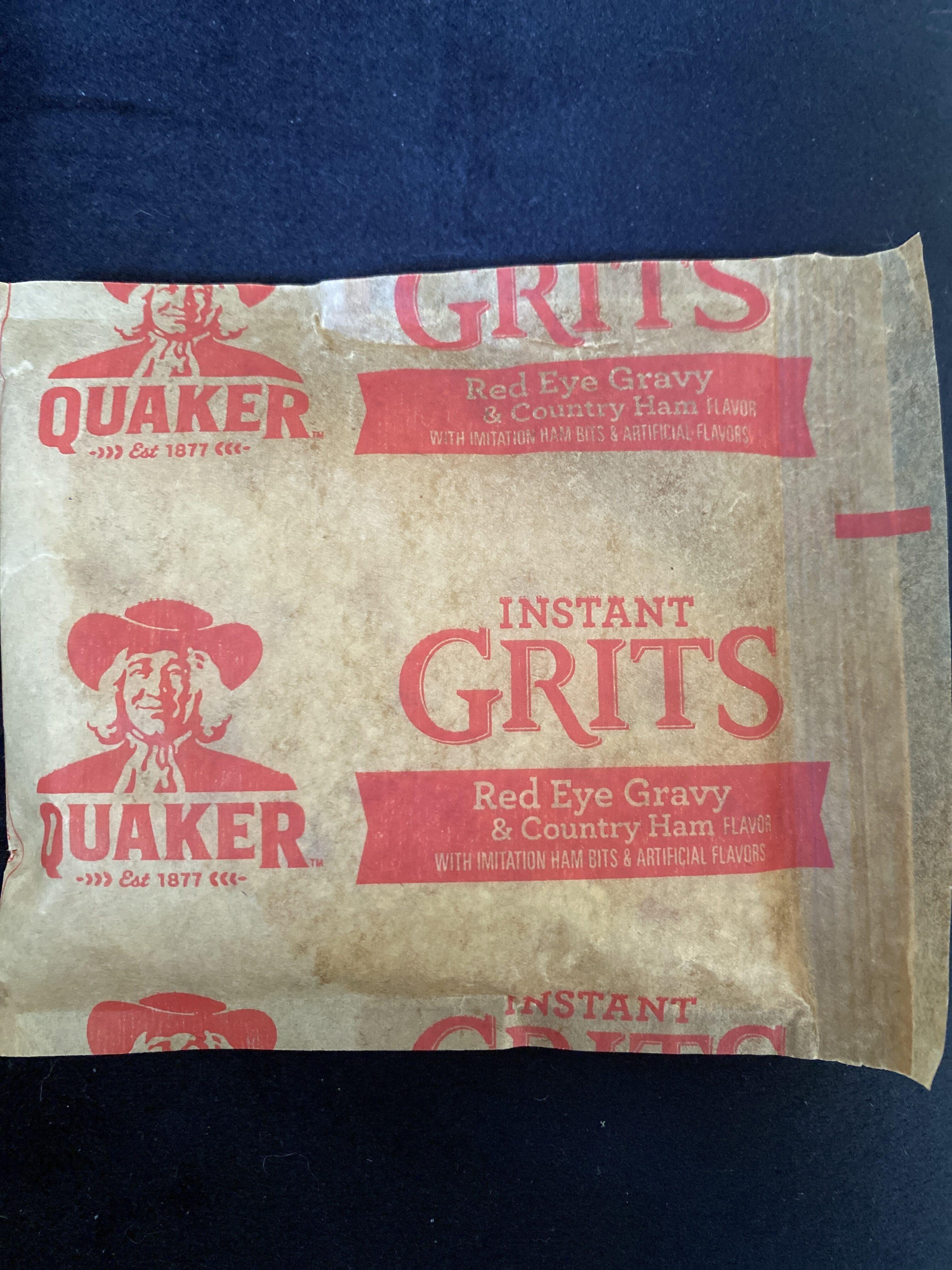 Quaker Instant Grits Red Eye Gravy & Country Ham (12-1 Oz) 12 Ounce 12 Count Paper Pouch - Produit - en