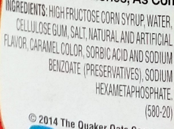 Original lite syrup, original - Ingredients - en