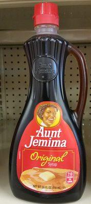 Aunt Jemima Original Syrup 24 Fluid Ounce Plastic Bottle - Produit