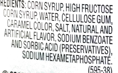 Original Syrup - Ingredients