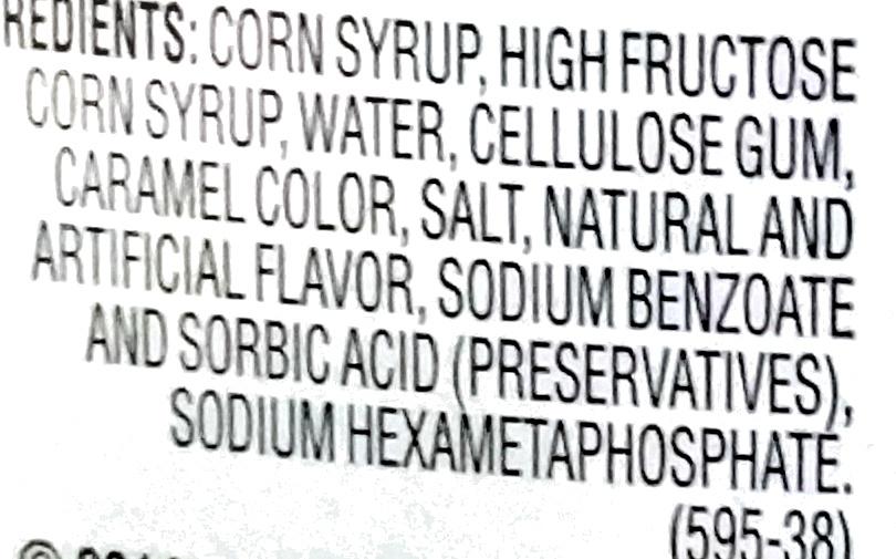 Aunt Jemima Original Syrup 24 Fluid Ounce Plastic Bottle - Ingredients - en