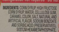 Aunt Jemima Original Syrup 24 Fluid Ounce Plastic Bottle - Ingrédients - fr