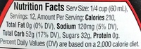 Original Syrup - Nutrition facts