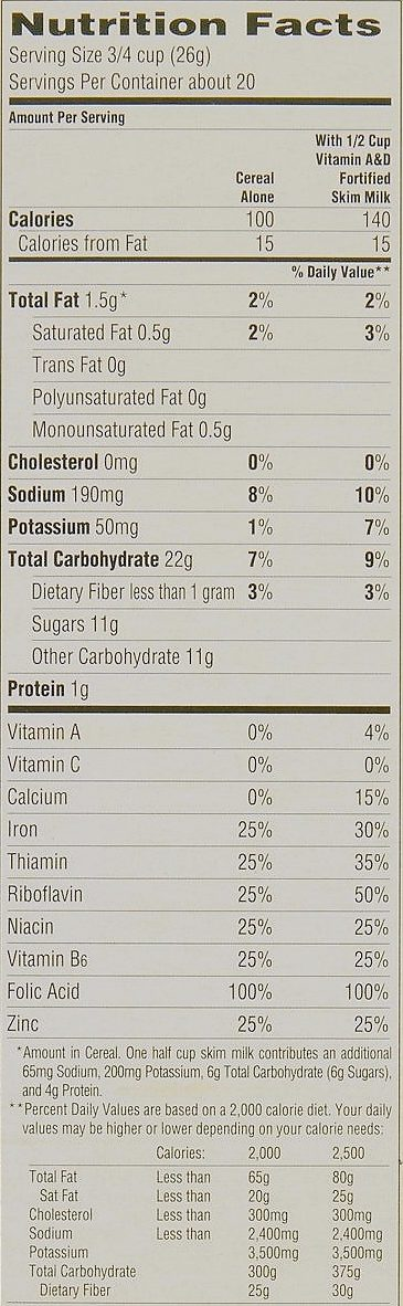 Crunch Berries - Informations nutritionnelles - fr