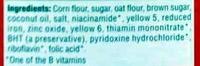 Cap'n Crunch - Ingredients