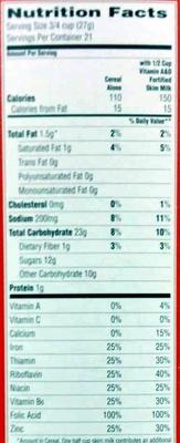 Cap'n Crunch - Nutrition facts