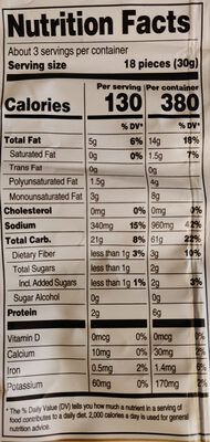 Sweet & spicy chili rice crisps, sweet & spicy chili - Nutrition facts - en
