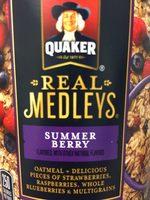 Quaker Real Medleys Summer Berry Oatmeal 2.46 Ounce Cup - Product - en