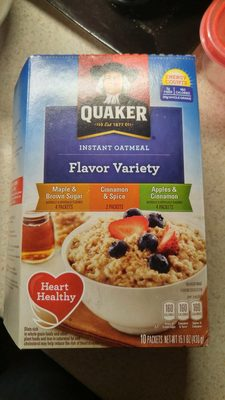 Quaker Instant Oatmeal Variety Pack (10 - 1.51 Ounce) 15.1 Ounce 10 Count Paper Packets - Product - en