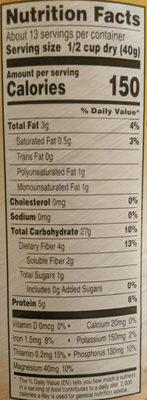 100% whole grain oats quick 1-minute oats - Ingrédients