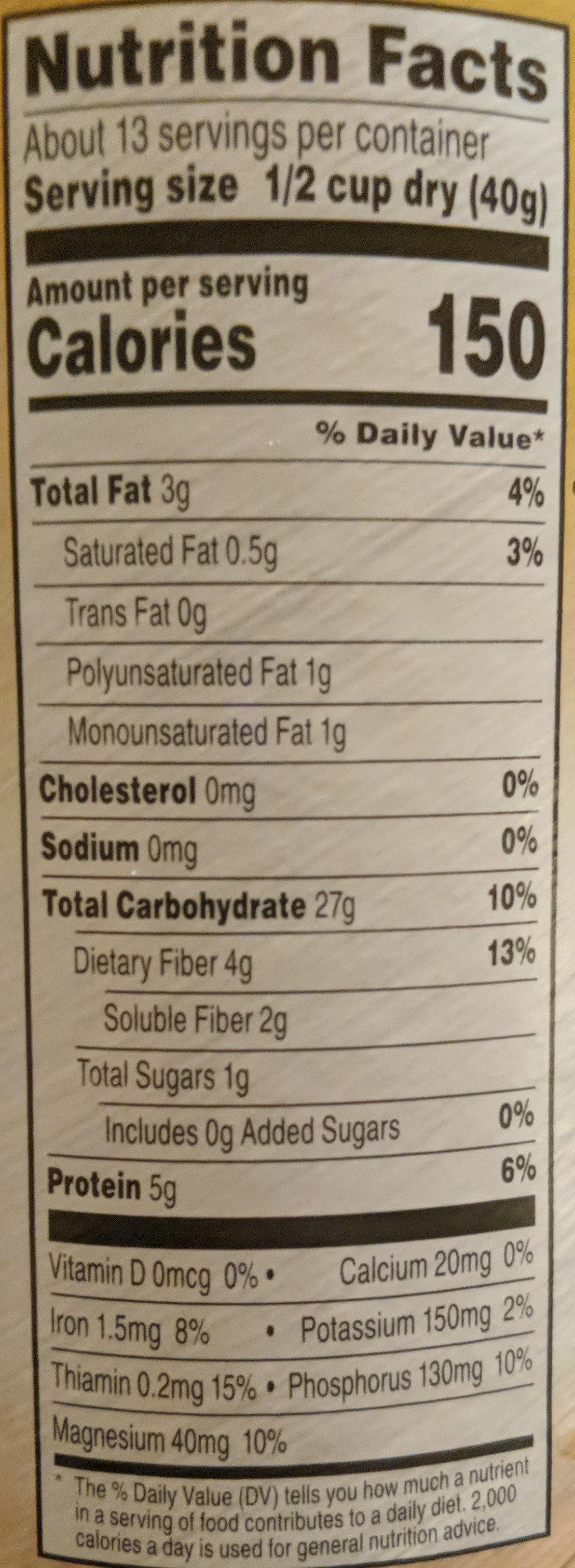 100% whole grain oats quick 1-minute oats - Ingrédients - en