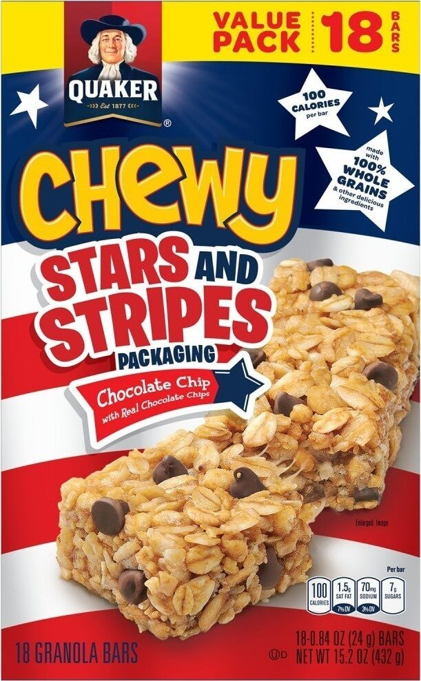 Chewy chocolate chip granola bars - Product - en